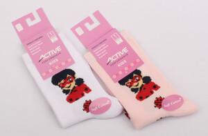 جوراب ساق دار دختر کفشدوزکی (4-3 سال)