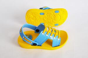 دمپایی بچه گانه طرح بندی (زرد-آبی)