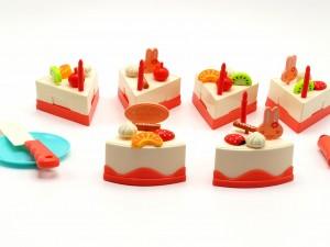 کیک برشی جشن تولد با شمع نورانی( 43 تکه)