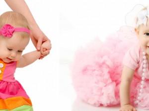 کودک در لباس پوشیدن کند است