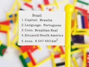 پازل چوبی نقشه جهان با پرچم
