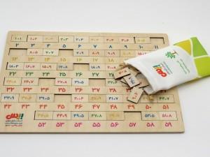 پازل چوبی ریاضی جمع