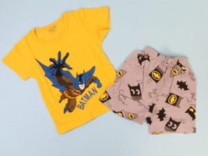 تیشرت و شلوارک نوزادی پسرانه با طرح بت من