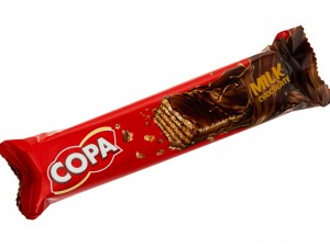 ویفر با روکش شکلات شیری 40 گرمی کوپا