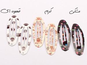 گل سر تق تقی طرح دار (2 عددی)