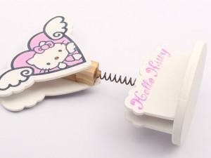 گیره پایه دار چوبی هلوکیتی Hello Kitty