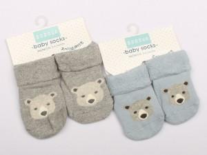 جوراب حوله ای استپ دار طرح خرس (6-0 ماه)