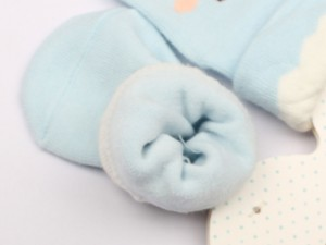 جوراب حوله ای استپ دار طرح جوجه (6-0 ماه)