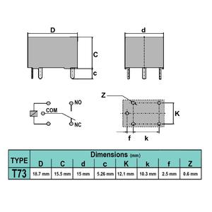رله LIMING T73 JQC-3F-1C 12V-7A