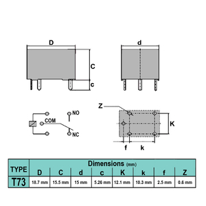 رله  LIMING T73 JQC-3F-1C 24V-7A