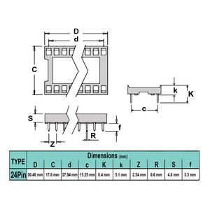 سوکت IC ساده 24پین