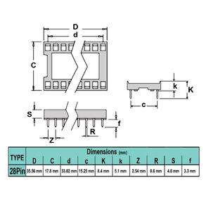 سوکت IC ساده 28پین