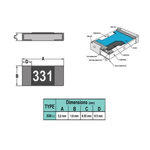 مقاومت 330ohm 1206 SMD
