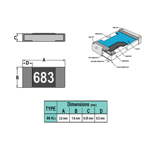 مقاومت 68K 1206 SMD