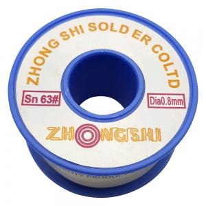 سیم قلع ZHONGSHI 63/37 0.8m 100gr
