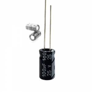 خازن الکترولیت 100uF-25V
