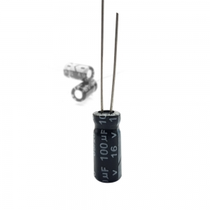 خازن الکترولیت 100uF-16V