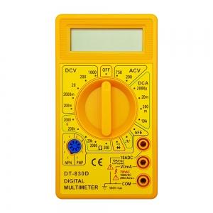 مولتی متر دیجیتالی DT-830D زرد