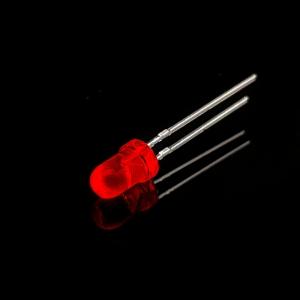 ال ای دی 3mm قرمز شفاف پایه کوتاه