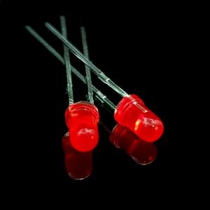ال ای دی 3mm قرمز مات پایه کوتاه