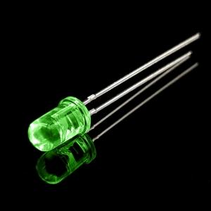 ال ای دی 5mm سبز شفاف پایه بلند