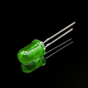 ال ای دی 5mm سبز مات پایه کوتاه