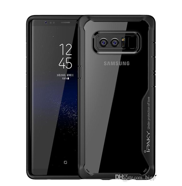 قاب گوشی IPAKY پشت شفاف samsung galaxy note 8