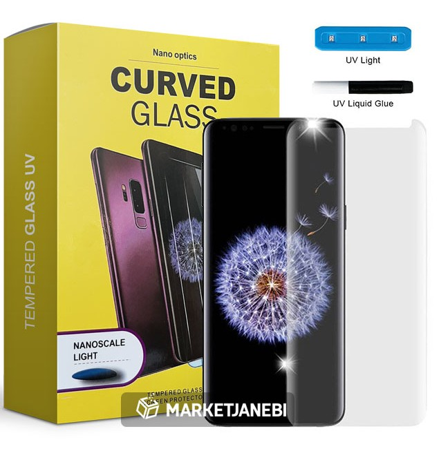محافظ صفحه نمایش UV مات UV Tempered Glass Matte Samsung Galaxy S9 plus