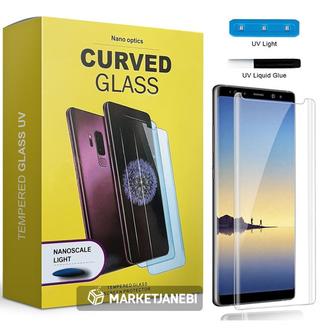 محافظ صفحه نمایش UV مات UV Tempered Glass Matte Samsung Galaxy note 9