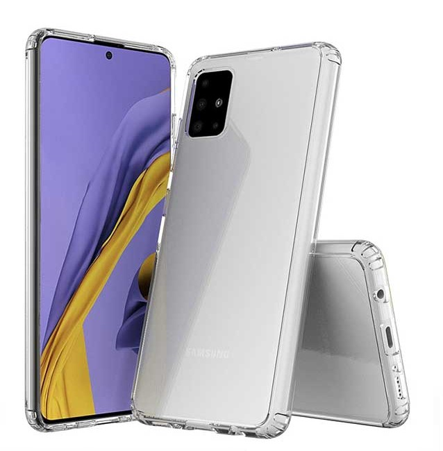 قاب گوشی شفاف clear case Samsung Galaxy A71 بی رنگ پشت طلق
