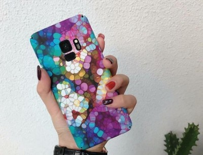 قاب طرح دار 360 درجه  Flowery Case Samsung Galaxy note9