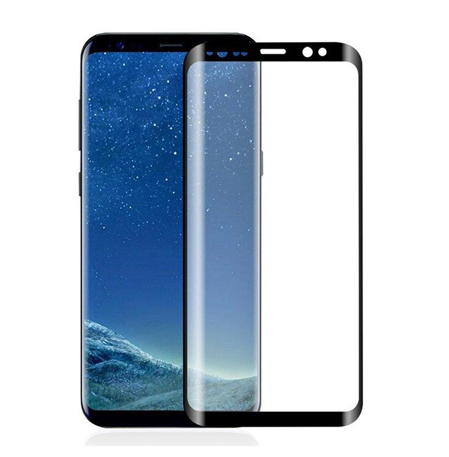گلس full glue glass samsung galaxy s9 plus تمام صفحه و تمام چسب