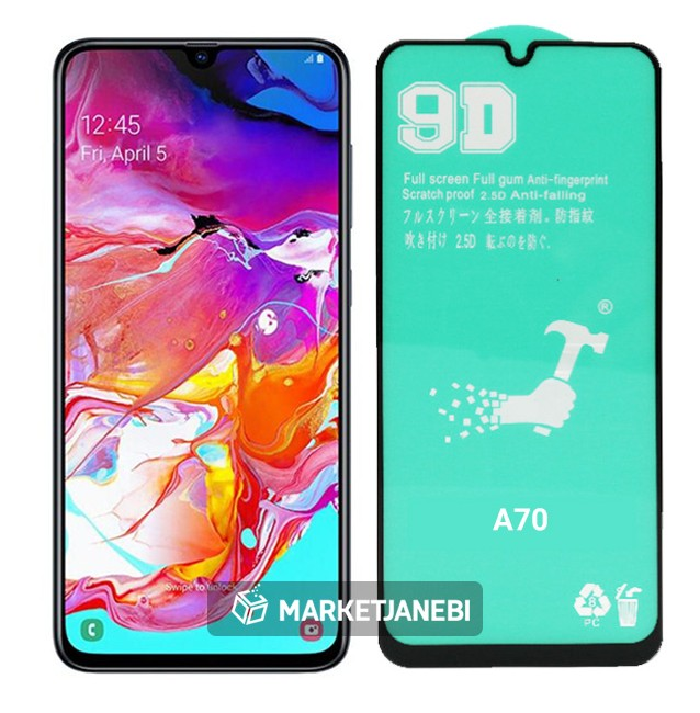 گلس سراميكى نشكن ceramics glass samsung galaxy A70 تمام صفحه |