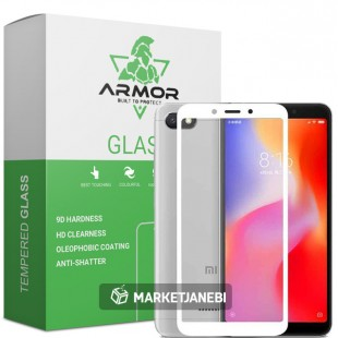 گلس شیائومی full glue glass xiaomi redmi 6 تمام صفحه و تمام چسب