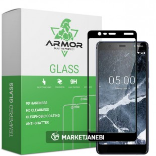 گلس نوکیا full glue glass nokia 5.1 تمام صفحه و تمام چسب