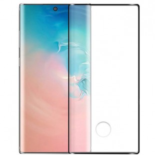 گلس سوراخ دار samsung galaxy note 10 تمام صفحه و تمام چسب