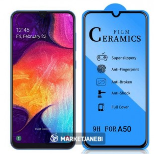 گلس سراميكی ceramics glass Samsung Galaxy A50 تمام صفحه و تمام چسب