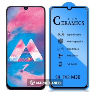گلس سراميكى ceramics glass Samsung Galaxy M30 تمام صفحه و تمام چسب