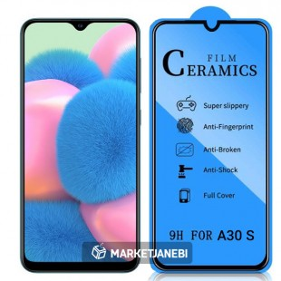 گلس سراميكى ceramics glass Samsung Galaxy A30 S تمام صفحه و تمام چسب