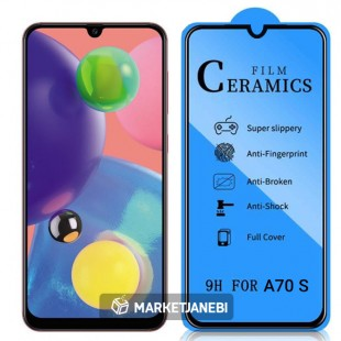 گلس سراميكى ceramics glass Samsung Galaxy A70 S تمام صفحه و تمام چسب