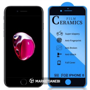 گلس سراميكى ceramics glass Apple iphone 8 تمام صفحه و تمام چسب