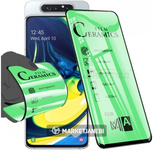 گلس سراميكى ceramics glass Samsung Galaxy A80 تمام صفحه و تمام چسب