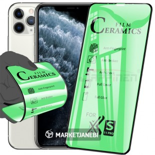 گلس سراميكى ceramics glass Apple iphone 11 pro تمام صفحه و تمام چسب