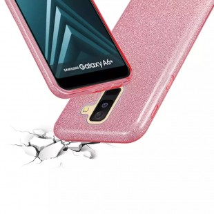قاب Samsung Galaxy A6 PLUS اکلیلی سه لایه shiny case