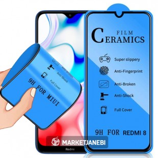 گلس سراميكى ceramics glass Xiaomi Redmi 8 تمام صفحه و تمام چسب