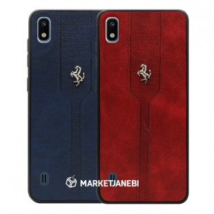 قاب چرمی فراری Ferrari leather case samsung galaxy A10