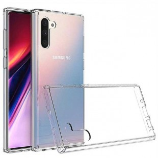 قاب گوشی شفاف clear case Samsung Galaxy Note 10 بی رنگ پشت طلق