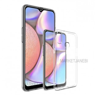 قاب گوشی شفاف clear case Samsung Galaxy A10 S بی رنگ پشت طلق