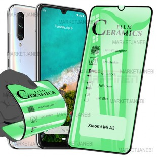 گلس سراميكى ceramics glass Xiaomi Mi A3/ CC9E تمام صفحه و تمام چسب