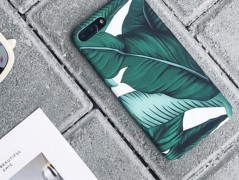 قاب طرح دار برگ سبز green leaf Case Apple iPhone 7plus/8plus